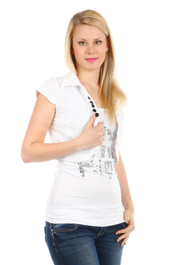Sports women's short sleeve bolero