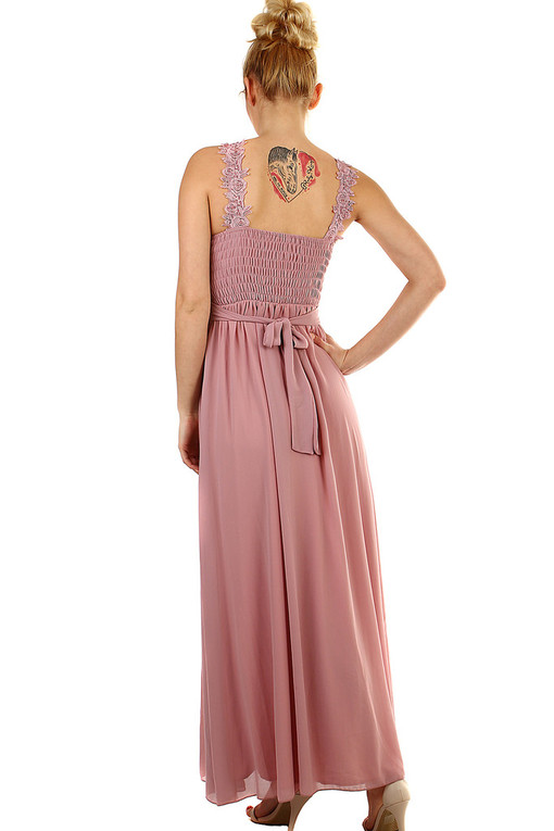 Ball long dress embroidery and beads