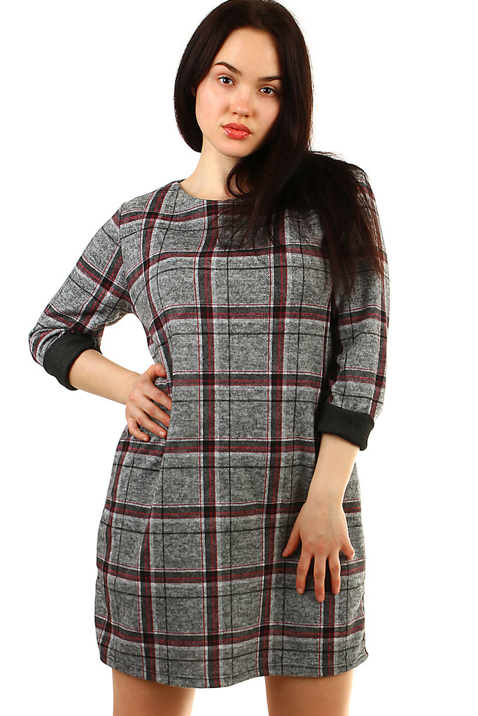 Oversized women's knitted dress