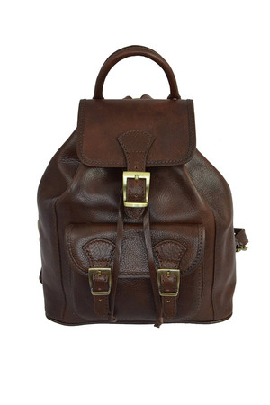 Retro classic backpack made of genuine leather Materials An exterior made of genuine unpolished veal leather that will last
