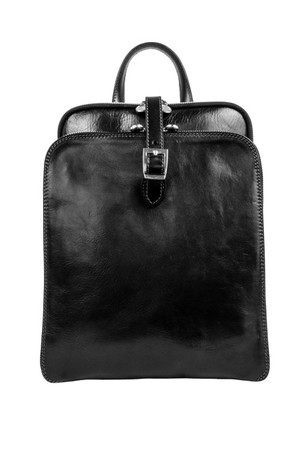 Vintage original ladies backpack made of genuine leather Materials An exterior made of genuine unpolished veal leather that