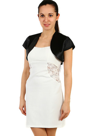 Elegant women's sore comfortable satin material short sleeve straight cut rounded edges of the front without closing