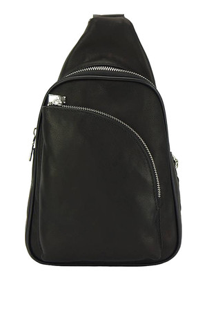 Mini city backpack over the shoulder made of genuine calf leather the main compartment is zipped inside it has a single