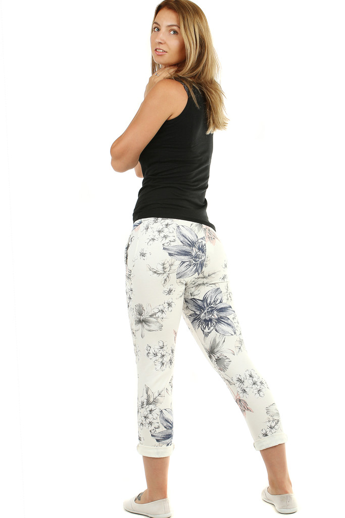 Women's flower pants elegant sport