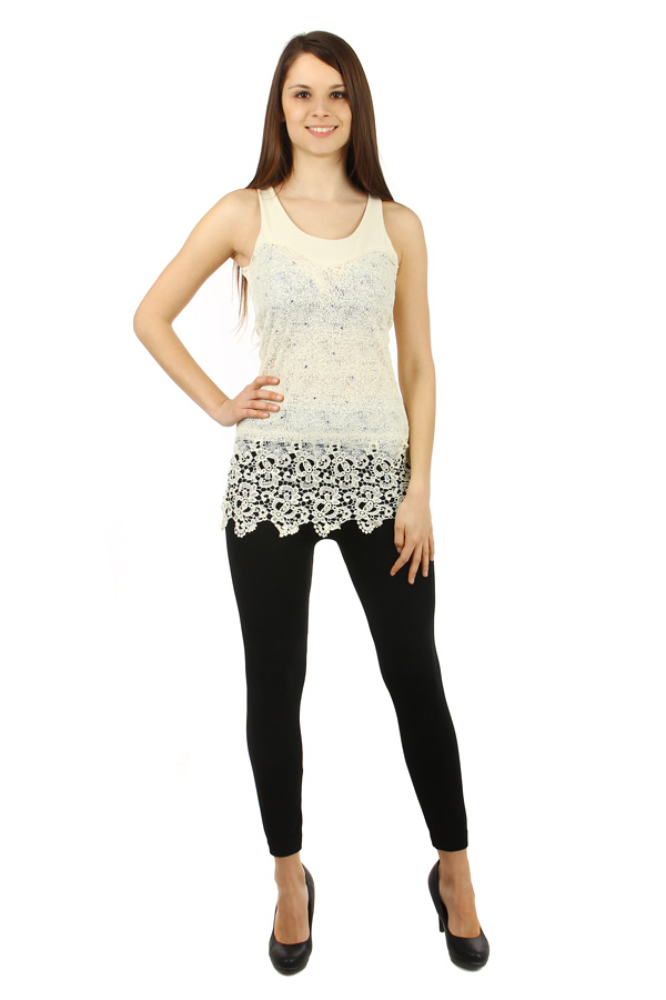 Women's longer lace tank top