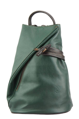Women's city backpack 3 in 1 design made of genuine leather. the original shape of letter A the backpack is so-called 3 in 1
