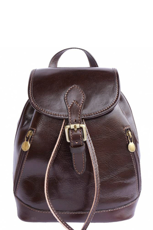 Genuine leather unisex backpack for the romantic soul. The classic shape and smaller size is just for the city where you do