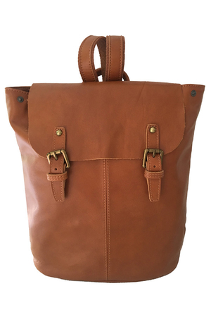 Women's single-color leather backpack - import Italy. suitable for trips to the city, it is safe to travel by public