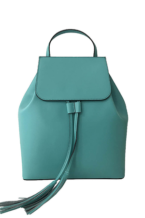 Women's elegant urban backpack made of genuine leather - imported from Italy. It is characterized by rich pastel colors