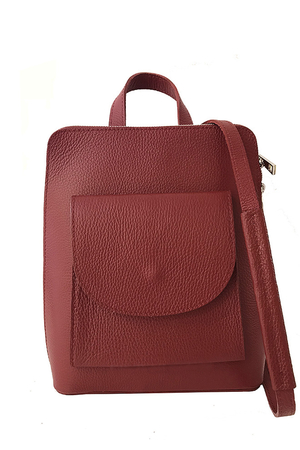 Small elegant ladies backpack made of genuine leather. Unique city design made in Italy. Available in multiple colors. the