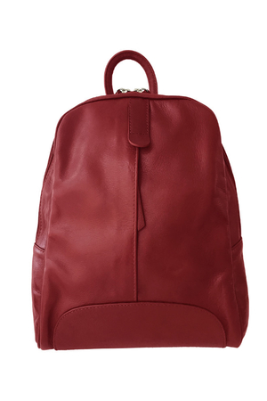 Women's monochrome backpack made of soft leather. Made in Italy, excellent quality. Suitable for trips and the city, it is