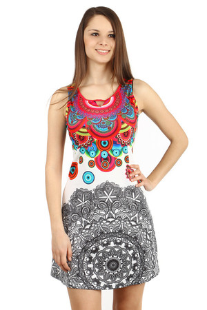 Unusual dress with rhinestones and beads. Material: 95% polyester, 5% elastane