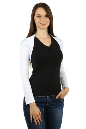 Modern women's long sleeve bolero that you can use for everyday wear, but also for various social events. monochromatic