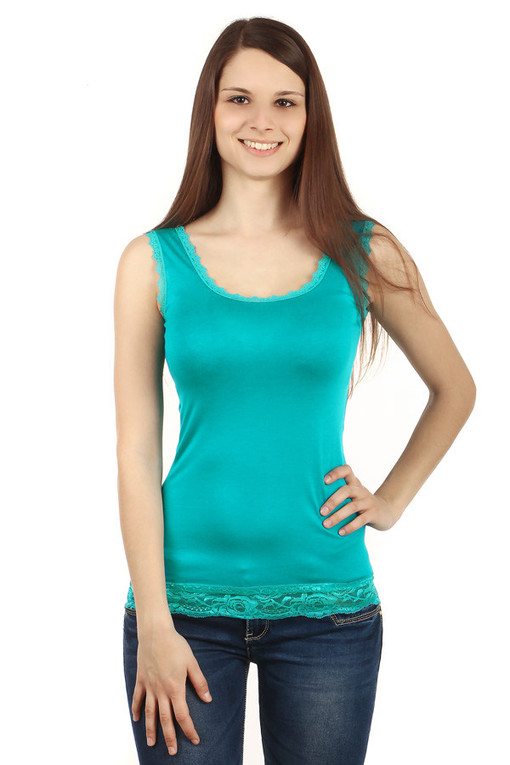 Ladies lace tank top