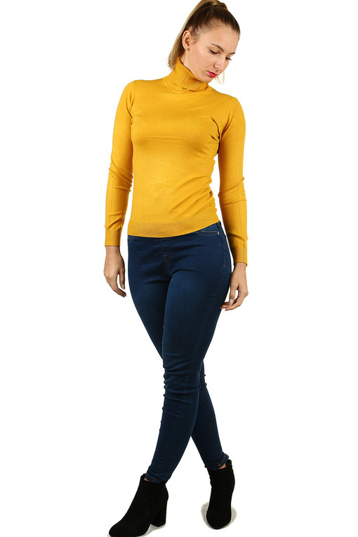Women's single-colored turtleneck