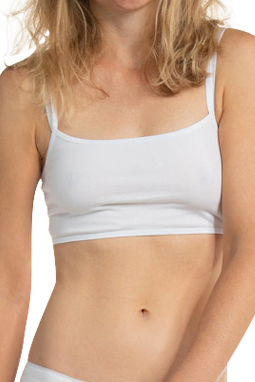Bra without fastening made of organic cotton