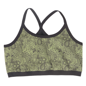Women's bra made of organic cotton with a pattern from the German brand Comazo - from the earth collection double design