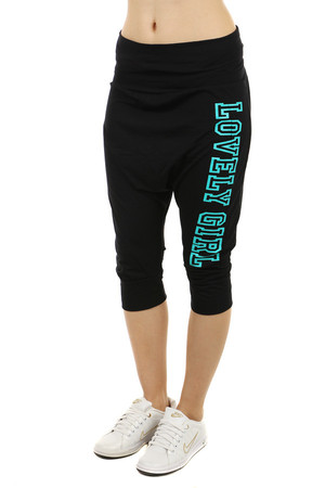 Modern women's tracksuit with a letter on the side. Wide elastic waistband can be flexed. Material: 85% viscose, 10%
