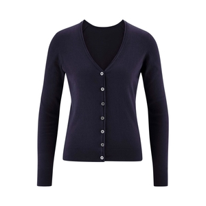 Women's pullover sweater made of 100% organic cotton from the German brand LIVING CRAFTS ageless classic button fastening