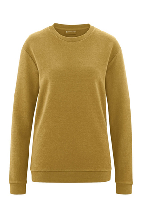 Unisex sweatshirt made of hemp and organic cotton from the HempAge sustainable fashion collection. natural materials smooth