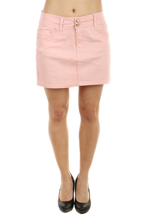 Beautiful pink classic cut skirt. Front and rear pockets. Without print and no pattern, suitable as a combination with a