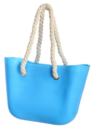 Spacious beach bag with ropes and zipper closure. Strap length 35 cm. Dimensions: length 40 cm, height 30 cm Material: