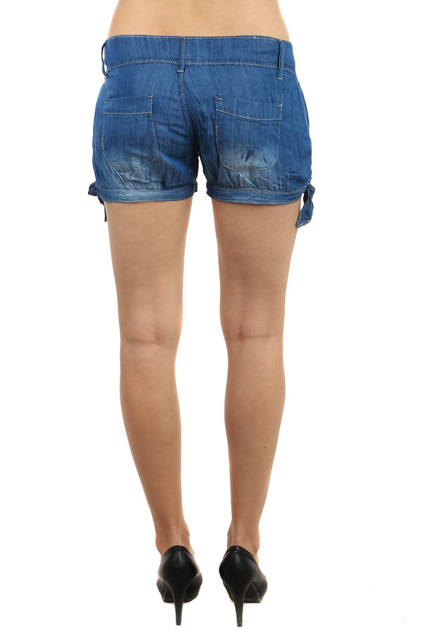 Women's denim mini shorts