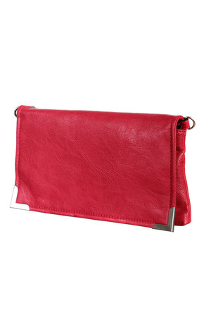 Modern clutch for every occasion. The main pocket is a snap and zipper. There is a small zippered pocket inside and out.