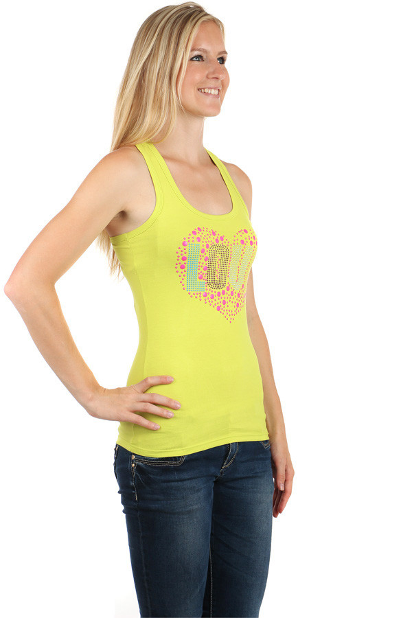 Women's sports tank top love sign