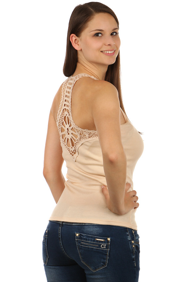 Women's cotton tank top lace