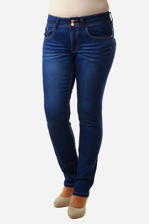 Great fitting dark blue jeans. Straight leg cut. Material: 66% cotton, 33% polyester, 1% elastane.