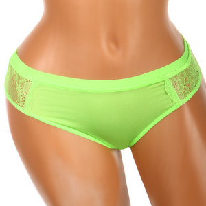 Women's microfiber panties with lace back. Material: 95% polyamide, 5% elastane.