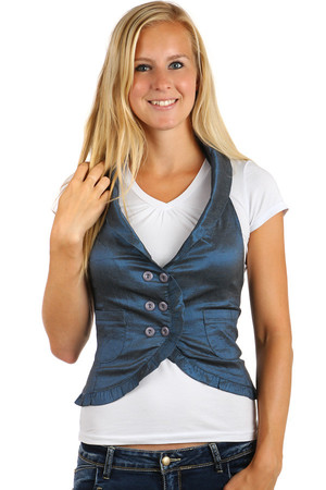 Women's stylish vest - even for plump. Up to size 44. Material: 60% cotton, 35% polyester, 5% elastane
