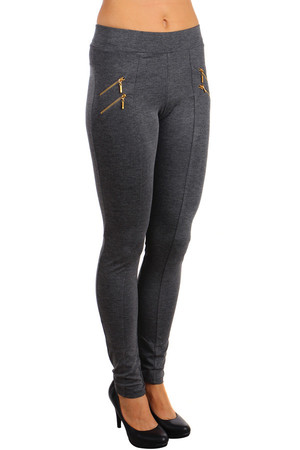 Modern women's leggings with zippers for decoration. Suitable for everyday wear, but also for the company. Material: 85%