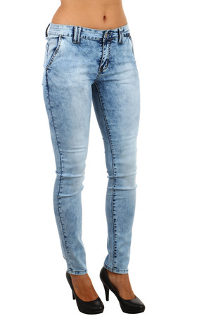 Modern bright jeans with snuggling. Material: 95% cotton, 5% elastane.