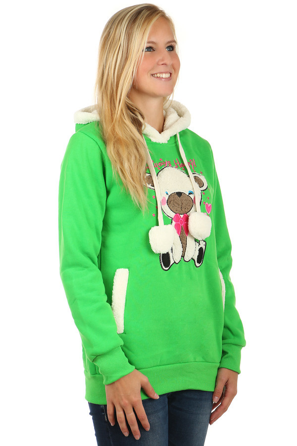 Women's warm hooded sweatshirt Bear