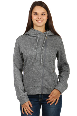 Modern sweatshirt with zip on the side and hood. Front pockets with zip. Up to XXXL. Material: 90% cotton, 10% polyester.