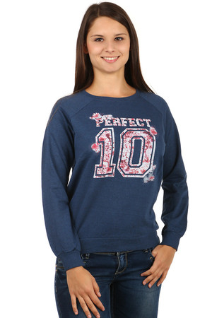 Stylish sweatshirt with print. Long sleeves. Material: 100% cotton.