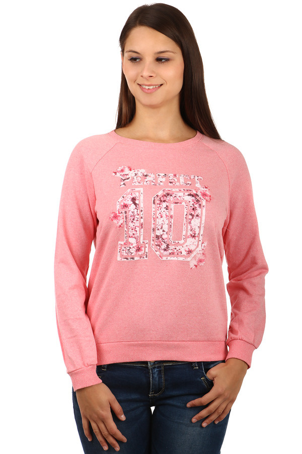 Women's elegant cotton sweatshirt without hood