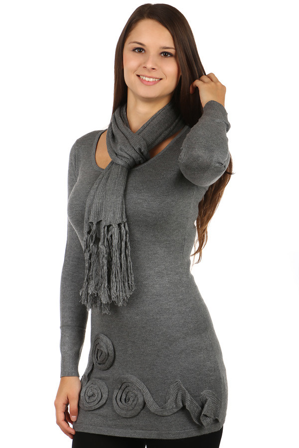 Women's sweater and scarf