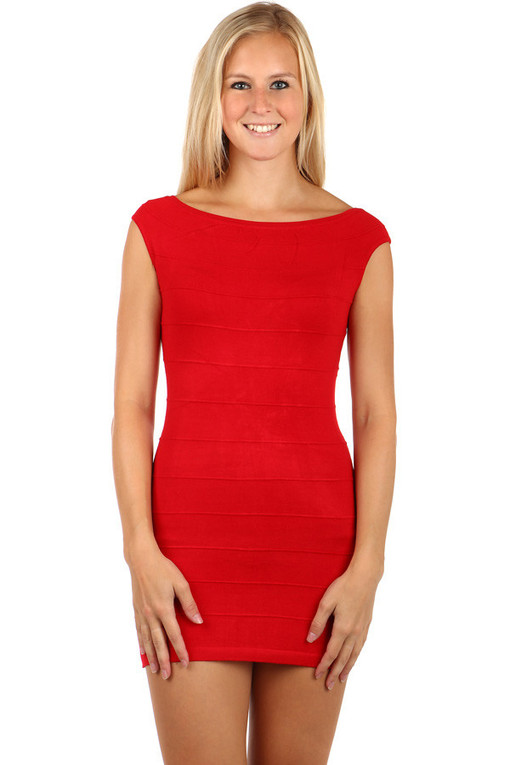 Women's Evening Knit Mini Zipper Dress