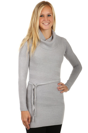 Modern sweater / dress with turtleneck. Material: 60% acrylic, 30% wool, 10% elastane