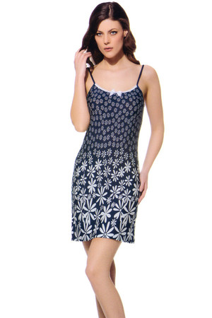 Seductive chemise with floral motif. Import: Turkey Material: 90% viscose, 10% elastane