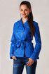 Women's leatherette jacket with belt