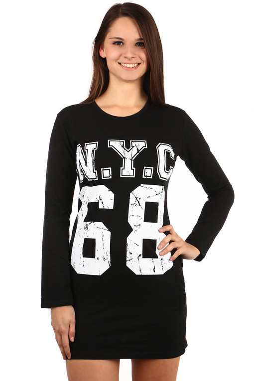 Women's long sleeve NYC cotton t-shirt