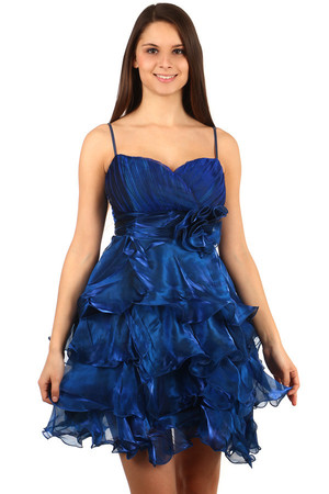 Ruffle dress for princesses with transparent scarf. Adjustable straps. Material: 100% polyester